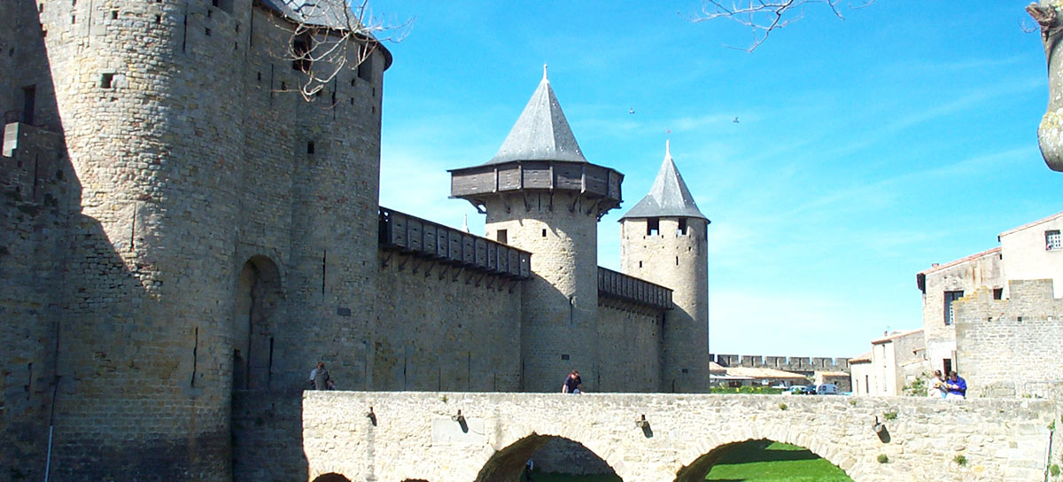 carcassonne castle, languedoc, south france