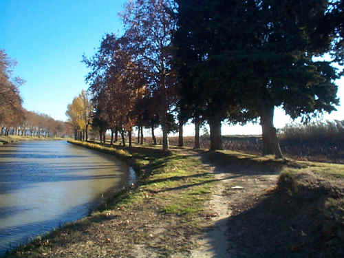 Canal du Midi, between Ventenac and Paraza in 1999