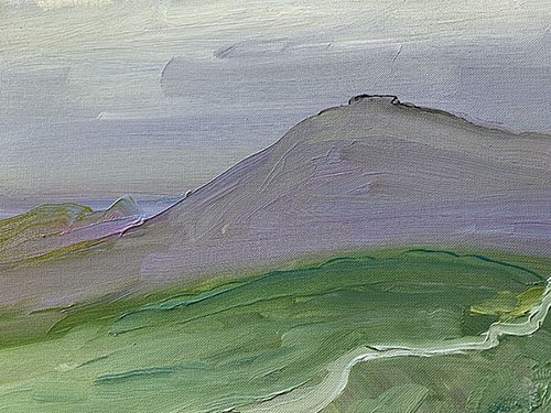Auvergne interlude oil painting by giles mitchell (giles denmark)